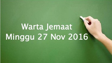 Download Warta Jemaat, 27 Nov 2016
