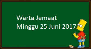 Download Warta Jemaat, Minggu 25 Juni 2017