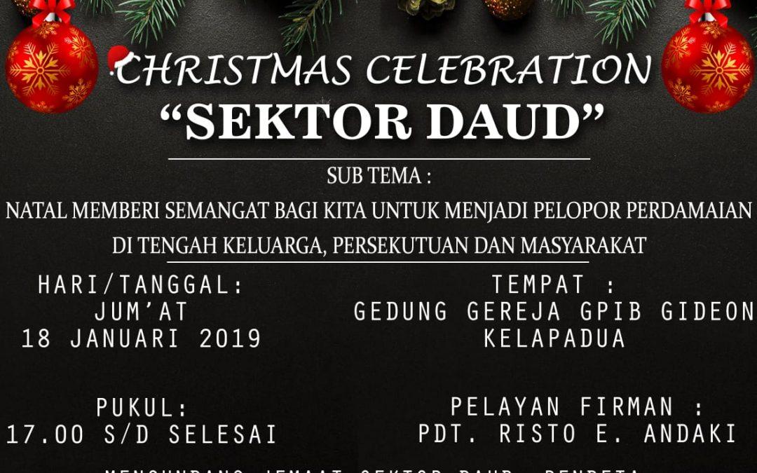 Perayaan Natal Sektor Daud