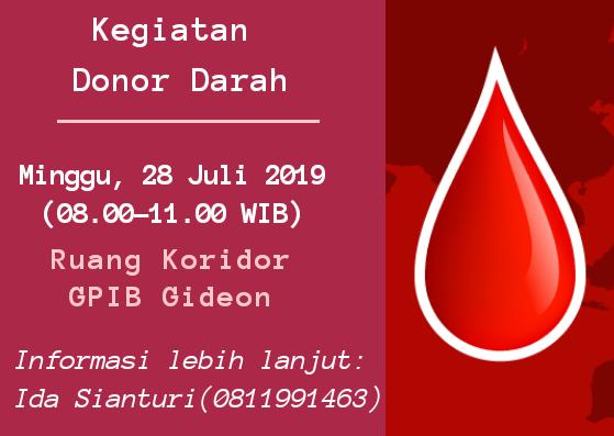 Donor Darah 28 Juli 2019